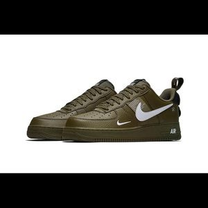 Olive green Air Force 1s